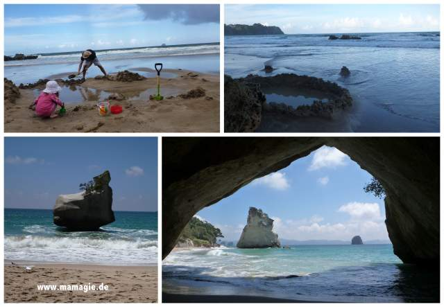 Neuseeland, Coromandel Peninsula: Hot Water Beach, Cathedral Cove
