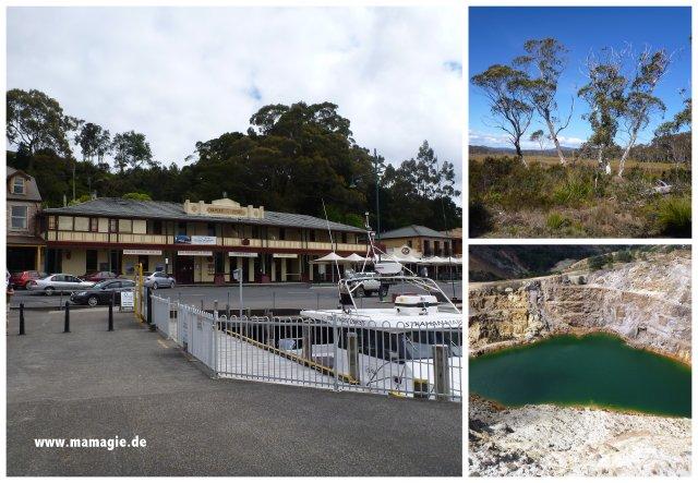 Tasmanien: Strahan, Queenstown Iron Blow Lookou