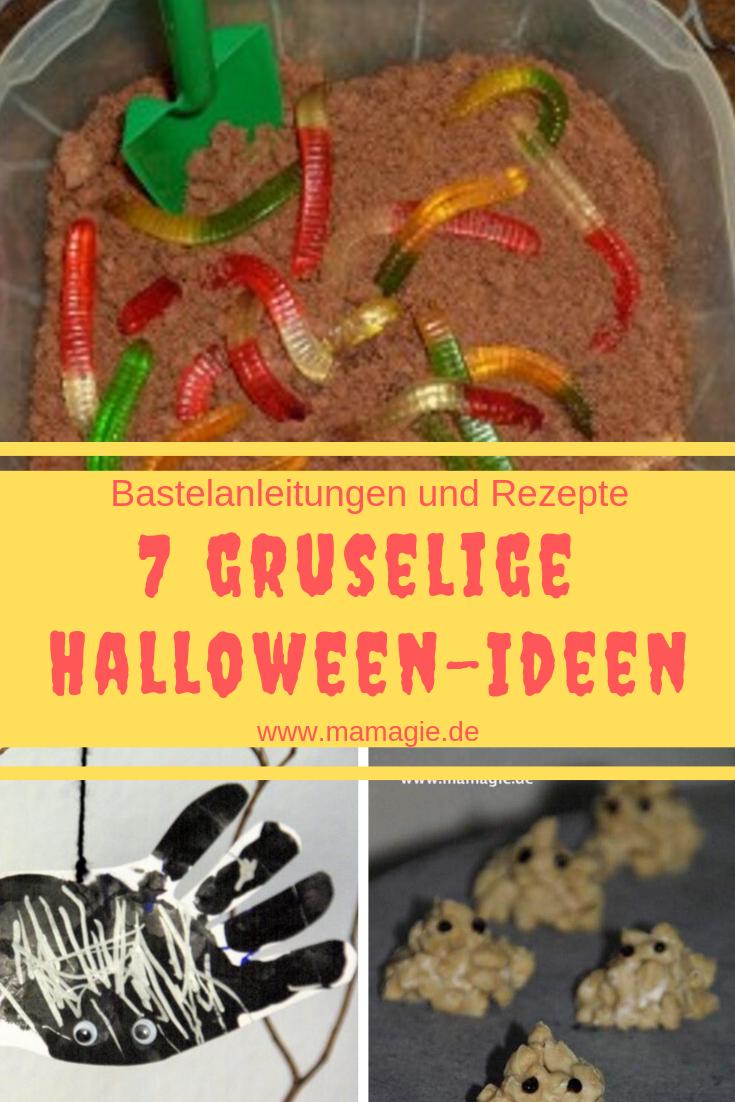 Bastelanleitungen und Rezepte für Halloween