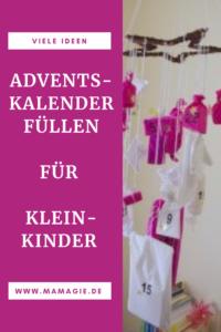 Viele Ideen, mit was man einen Adventskalender für Kleinkinder füllen kann