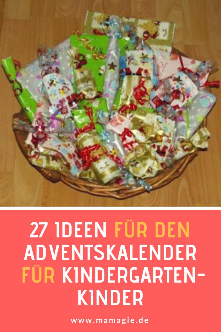 Ideen für die Füllung für den Adventskalender für Kindergartenkinder