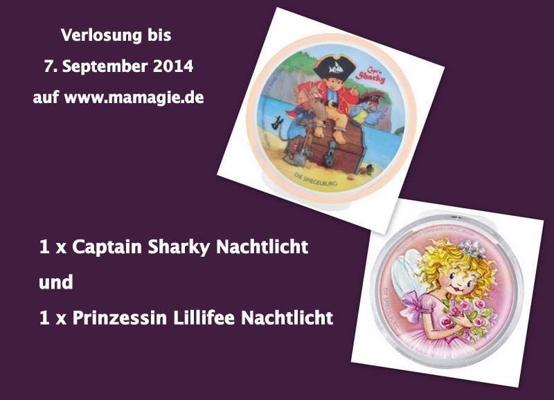 Gewinne 1 Captain Sharky Nachtlicht oder 1 Prinzessin Lillifee Nachtlicht