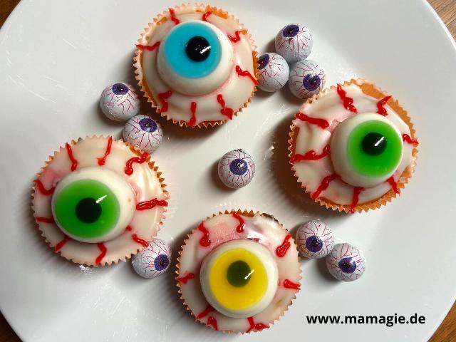 Gruselige Muffins für Halloween