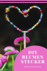 Blumenstecker aus Perlen Selbermachen
