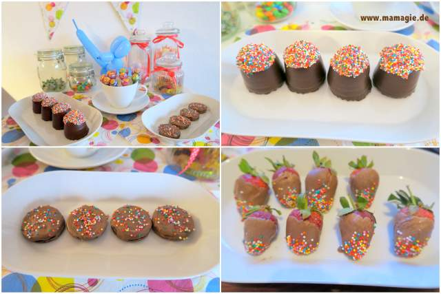 Süßigkeiten-Buffet für die Übernachtungsparty