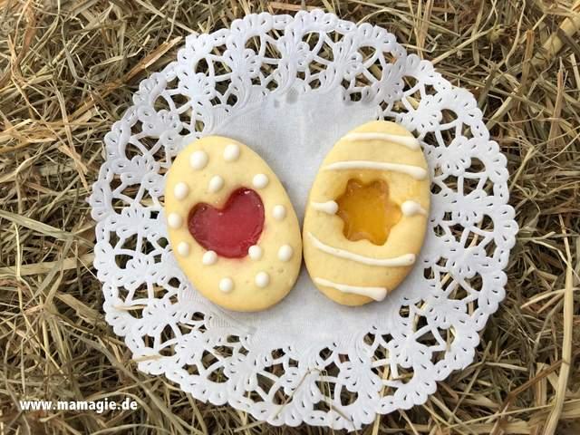 Rezept für leckere Kekse zu Ostern mit Bonbon-Kern