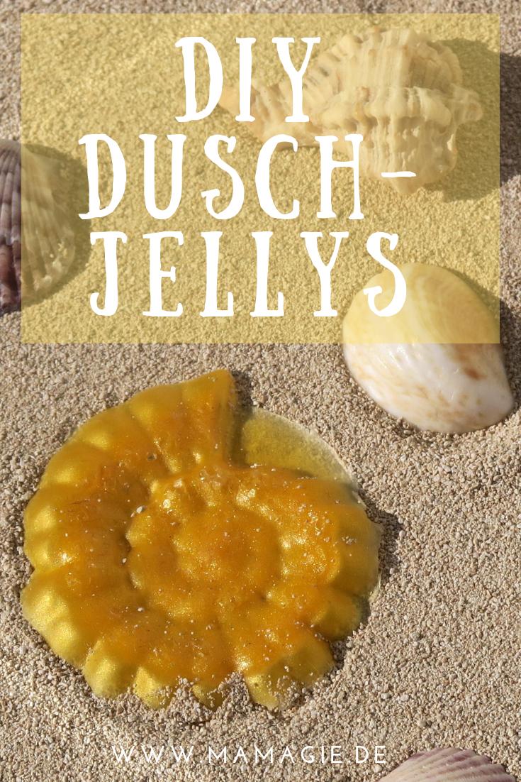 selbst gemachte Bade-Jellys oder Dusch-Jellys