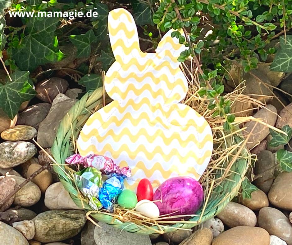 Genähte Hasentüte als Geschenk zu Ostern