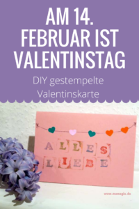 Valentinskarte mit Kindern gestalten