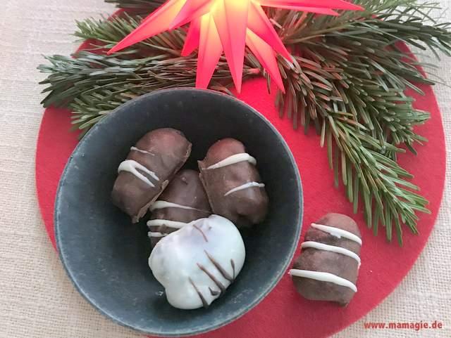 Rezept für gefüllte Datteln mit Schokolade