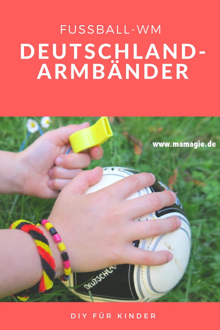Einfache selbstgemachte WM-Armbänder