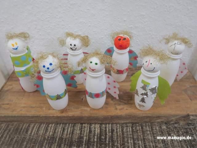 Weihnachtsgeschenk mit Kindern basteln aus Recyclingmaterial