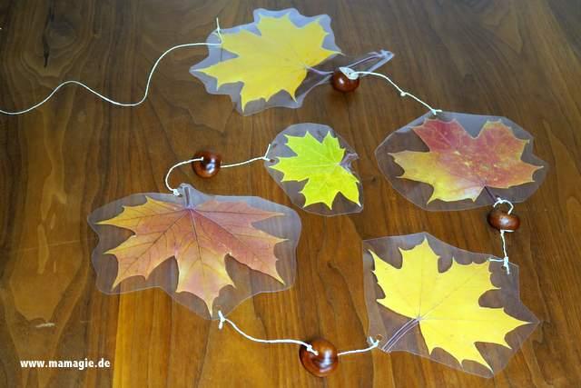 DIY Fensterdeko Herbst
