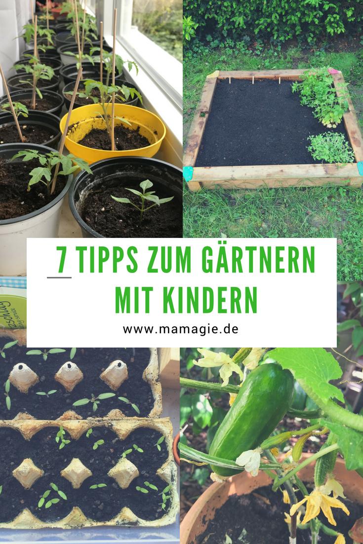 Garten mit Kindern