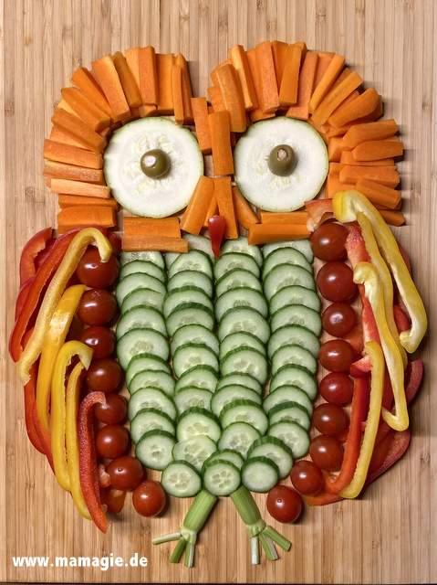 Gesunde Snacks für Kinder aus Gemüse