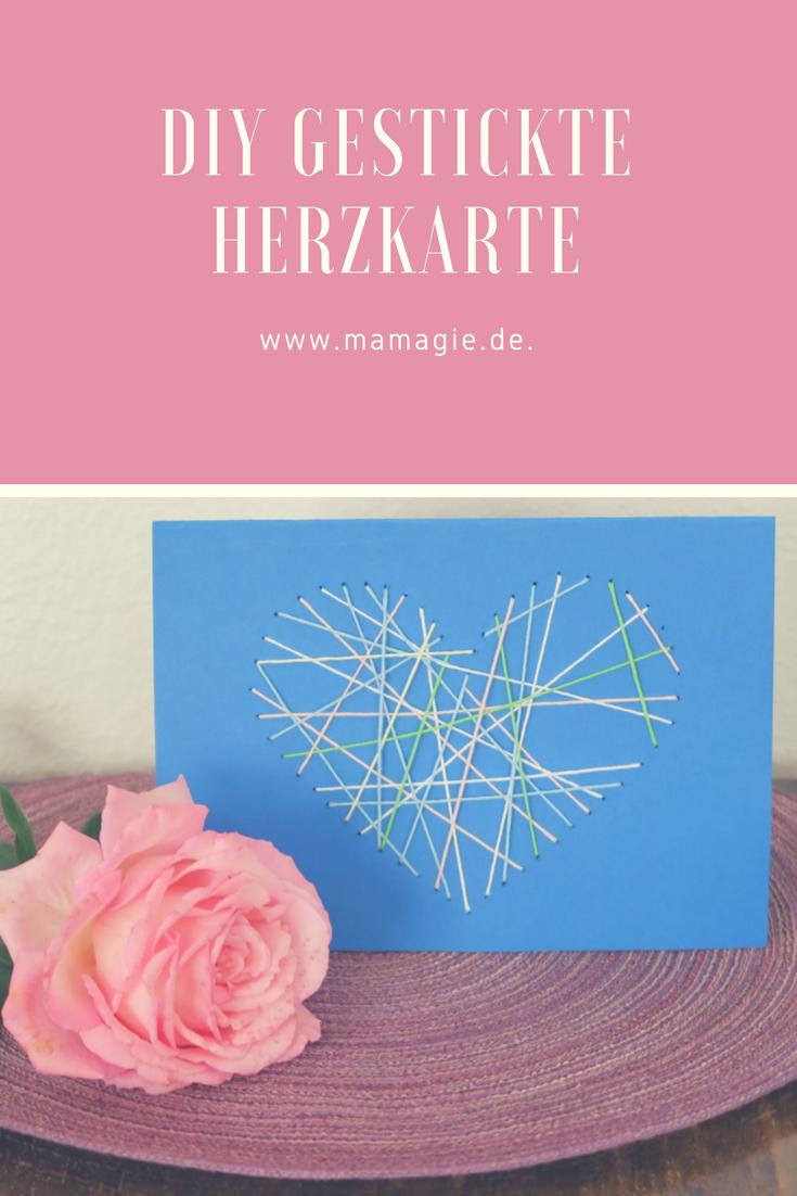 Herzkarte für Muttertag oder Geburtstag
