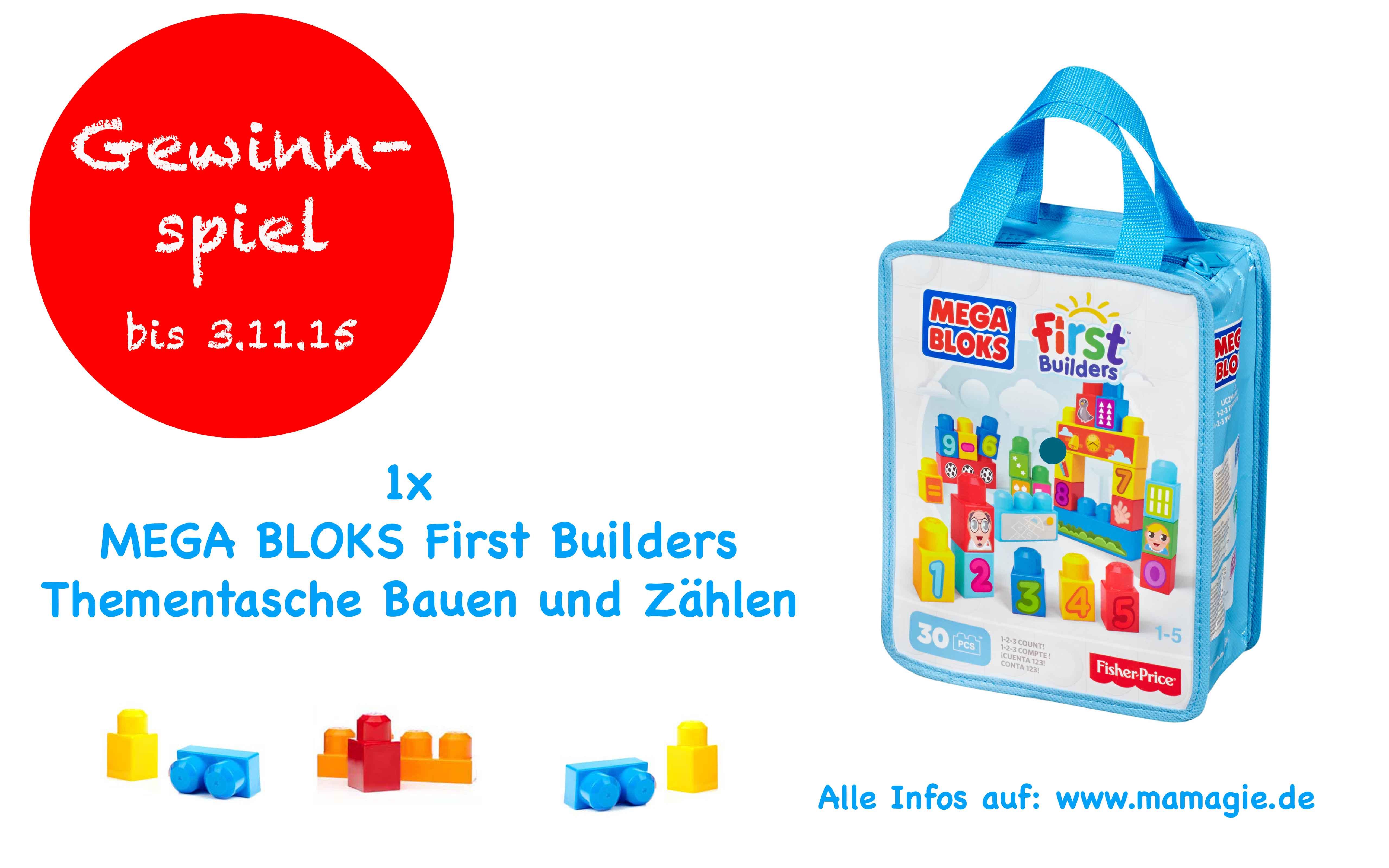 MEGA BLOKS First Builders Thementasche Bauen und Zählen gewinnen!