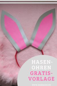 Hasenohren für Kostüm, Fasching oder Karneval