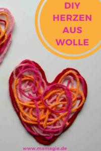 DIY Herzen aus Wolle zum Valentinstag
