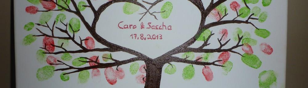 Bild mit Baum mit Fingerabdrücken als Blätter