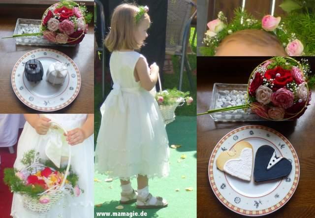 DIY Blumendeko für Blumenmädchen bei Hochzeit