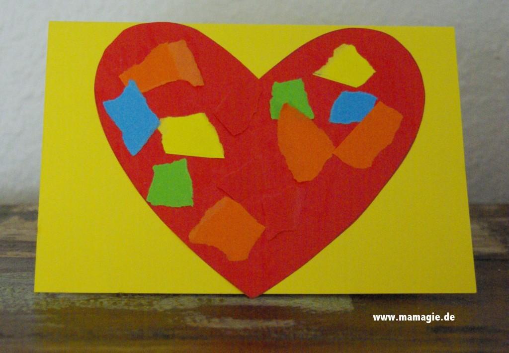 Herzkarte zum Valentinstag oder Muttertag