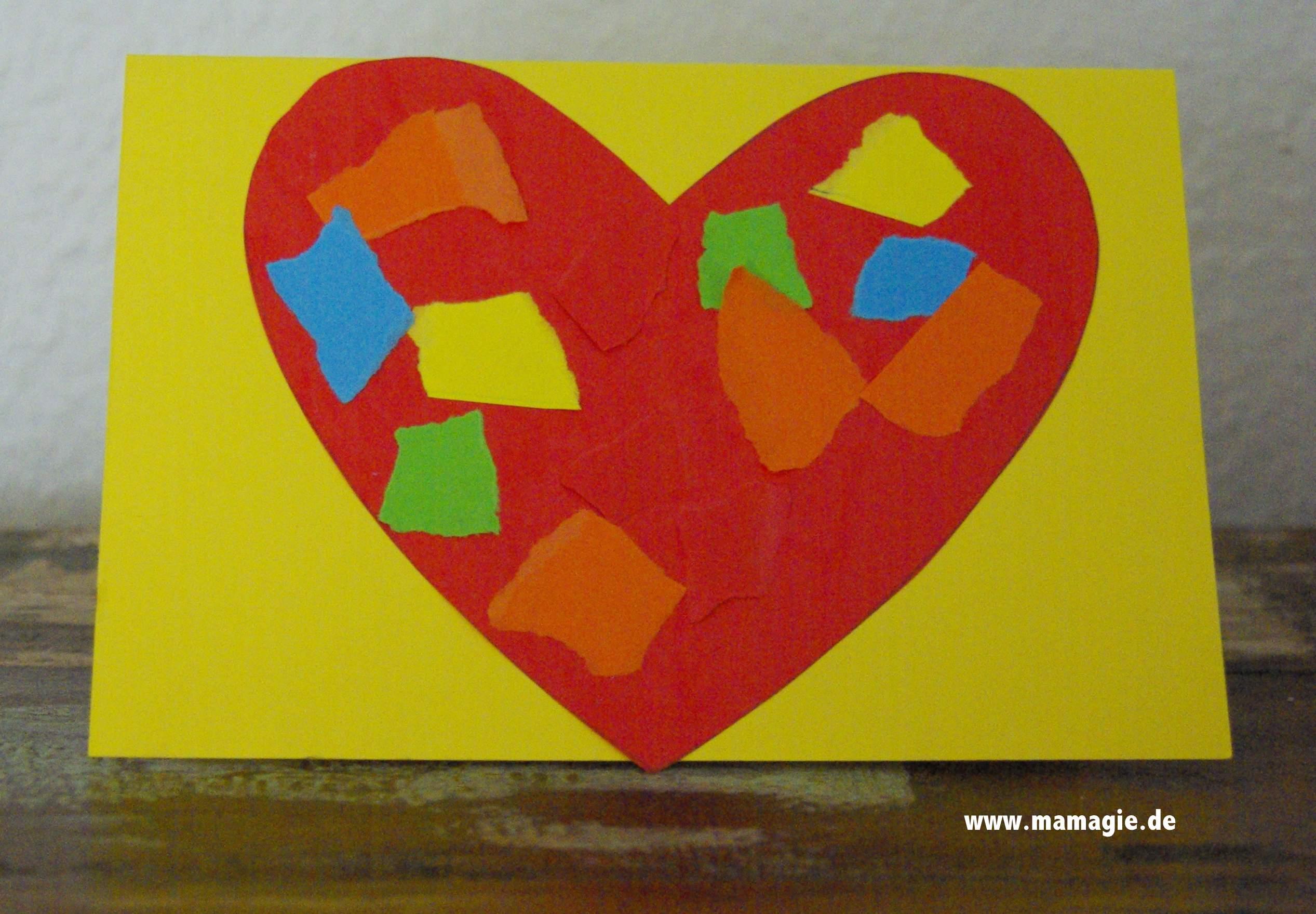 Herzkarte für Muttertag oder Valentinstag basteln