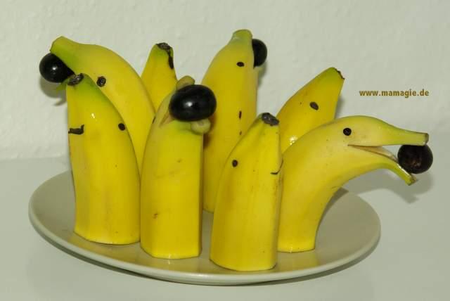 Seelöwen aus Bananen