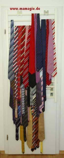 Krawattenhalter aus Bettgitter