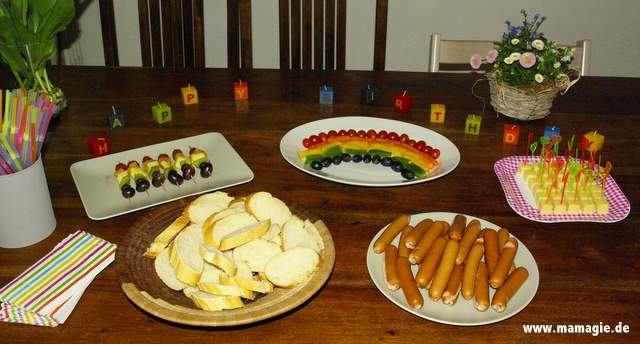 Abendessen in Regenbogenfarben