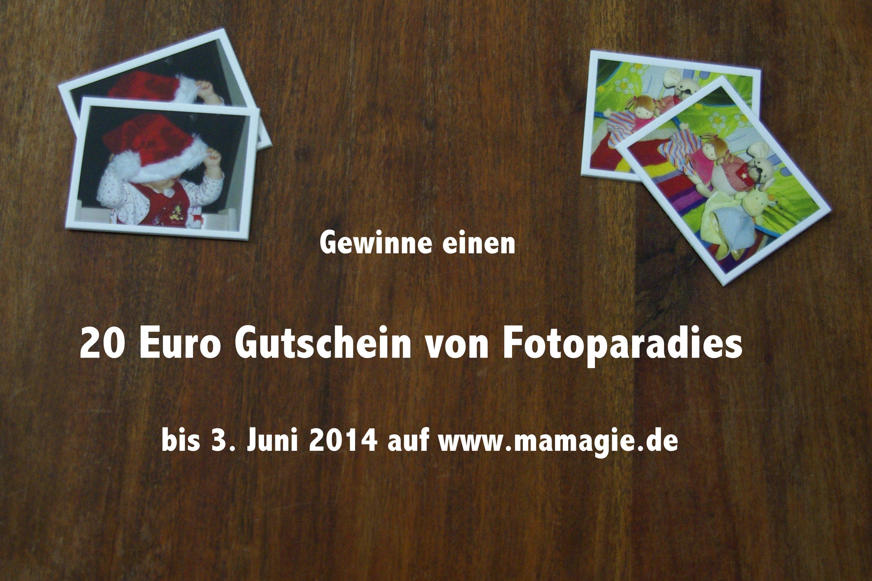 20 Euro Gutschein für Fotos gewinnen