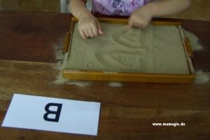 Montessorimaterial zum Schreiben lernen