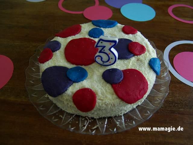 Geburtstagskuchen für Kindergeburtstag