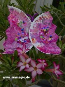 Gebastelter Schmetterling aus Papierteller