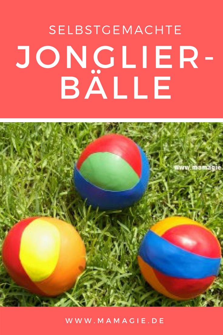 Anleitung für Jonglierbälle aus Luftballons und Stoffresten