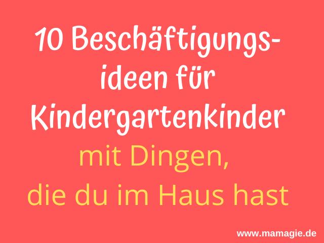 Kindergartenkinder drinnen beschäftigen