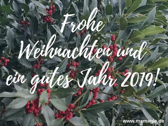 Wir wünschen euch frohe Weihnachten und ein gutes Jahr 2019!