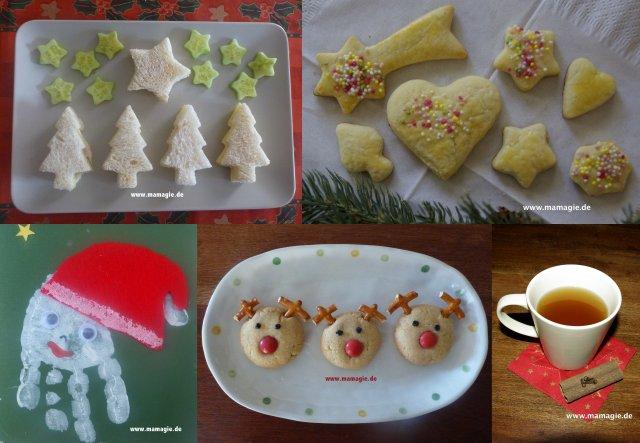 Weihnachtskekse, Weihnachtssnacks und Basteleien