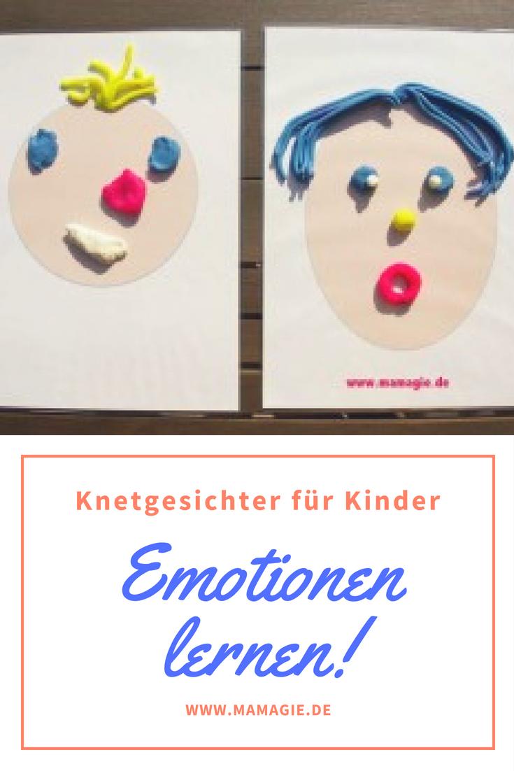 Emotionen lernen mit Knetgesichtern