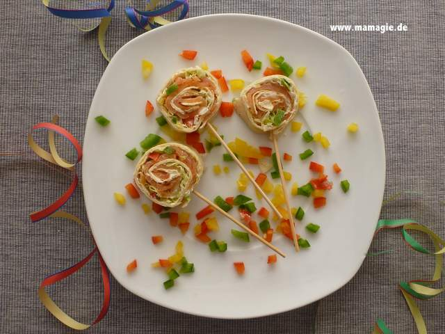 leckere Lachs-Wraps