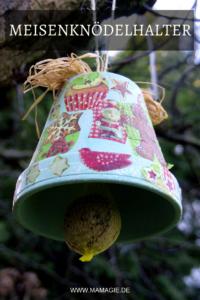 Halter für Meisenknödel aus Blumentopf