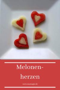 Erfrischender zweifarbiger Snack für Kinder aus Melonen
