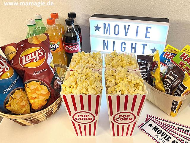 Kindergeburtstag zu Hause feiern mit einer Kinoparty