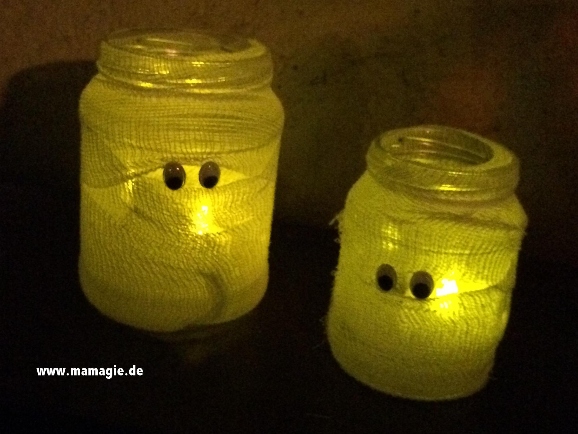 Mumien für Halloween basteln