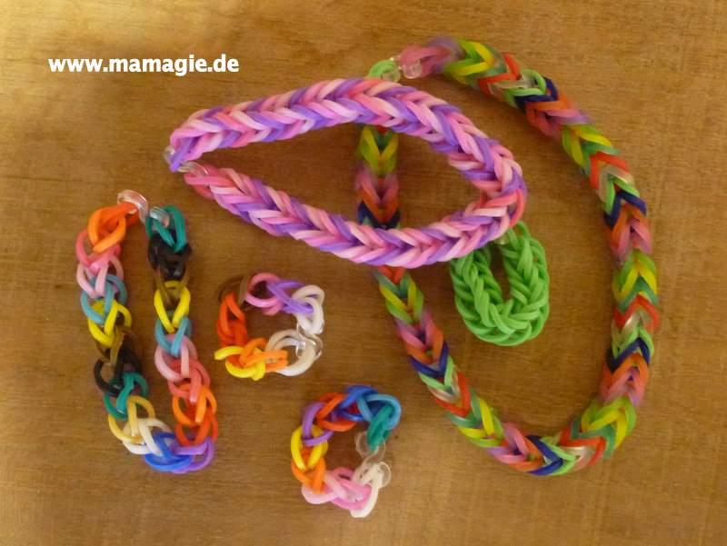 Einfache Loom Armbänder und Fishtail Armbänder