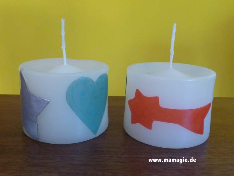 Kerzen mit Kindern selbstverzieren
