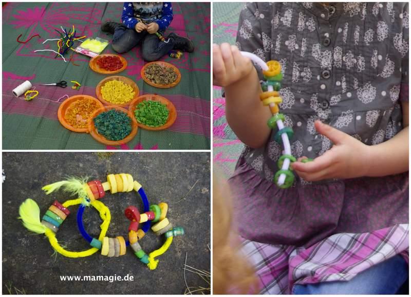 Armbänder und Indianerschmuck aus Nudeln