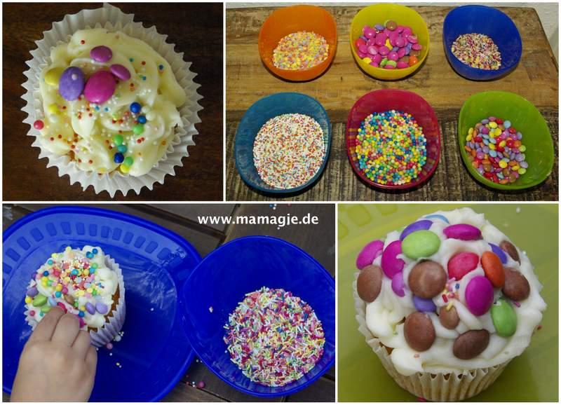 Muffins mit Kindern dekorieren
