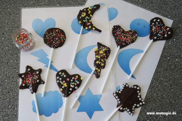 Kinderleichte Anleitung für Schokoladenlollies