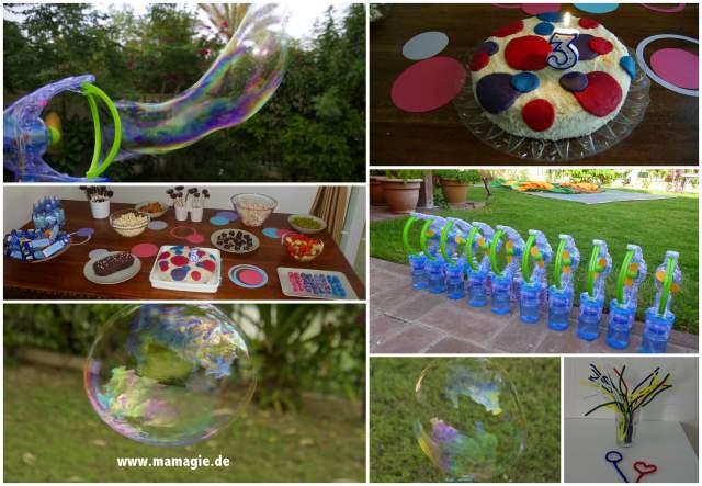 Essen und Spielen rund um Seifenblasen